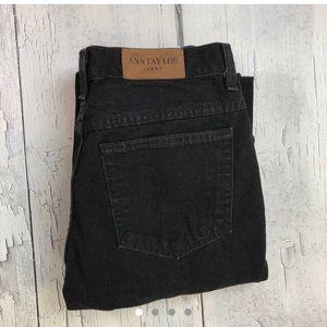 Vintage Ann Taylor black low rise jeans size 8